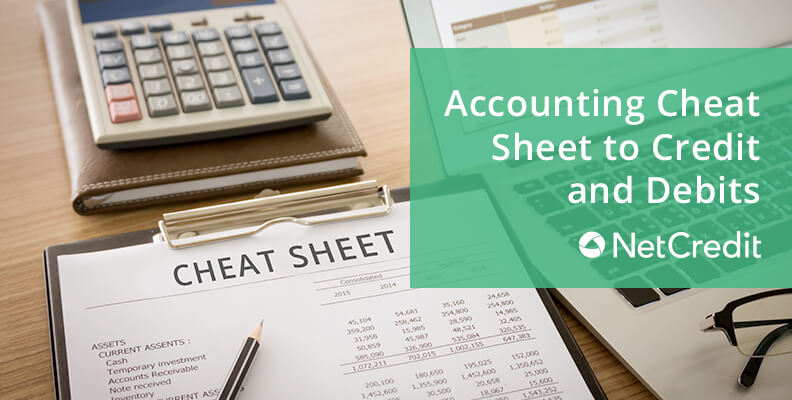 Accounting Cheat Sheet to Credit and Debits