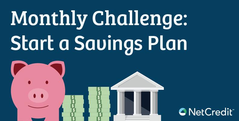 Monthly Challenge: Start a Savings Plan