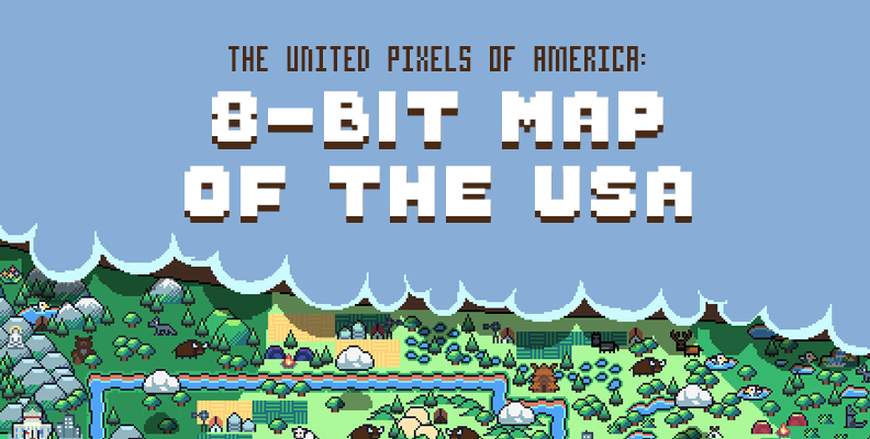 The United Pixels of America: 8-bit Map of the USA