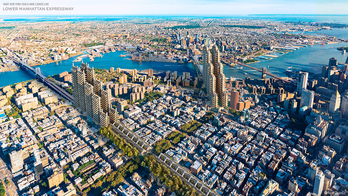 What US Cities Could Have Looked Like New York Aerial view