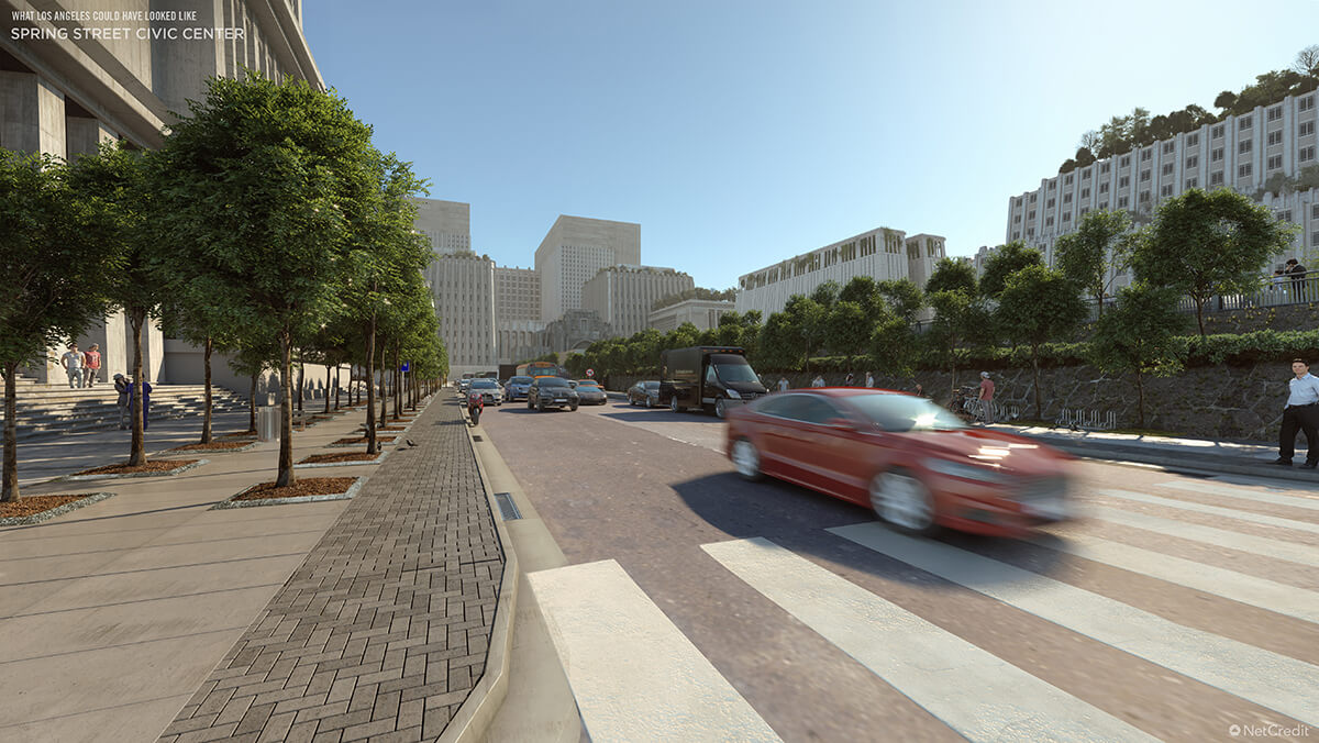 What US Cities Could Have Looked Like Los Angeles Pedestrian View