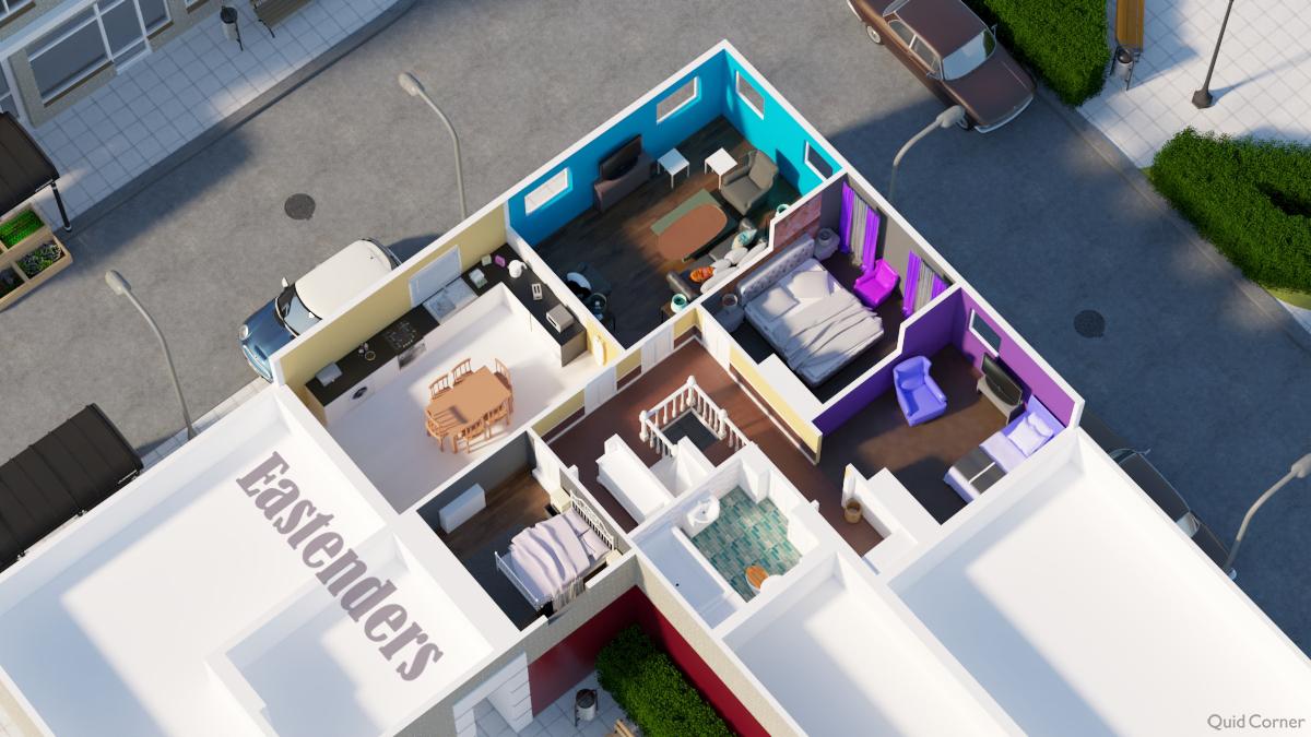 Eastenders tv show house floor plan
