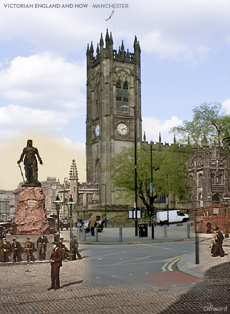 Then and Now Manchester Victoria Street