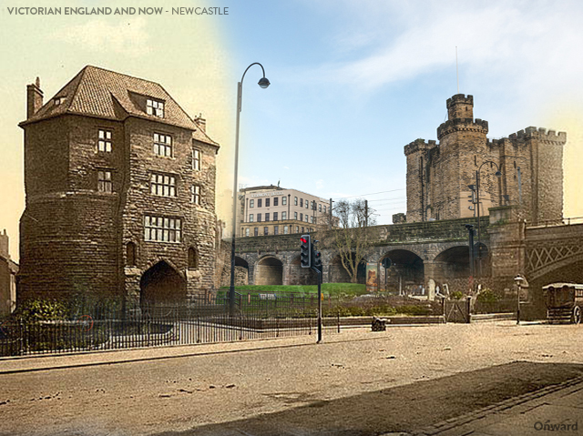 Then and Now Newcastle Black Gate and Castle