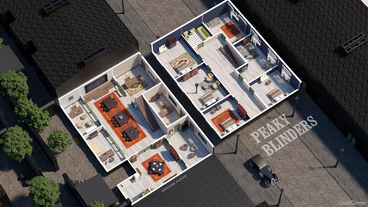 peaky blinders tv show house floor plan