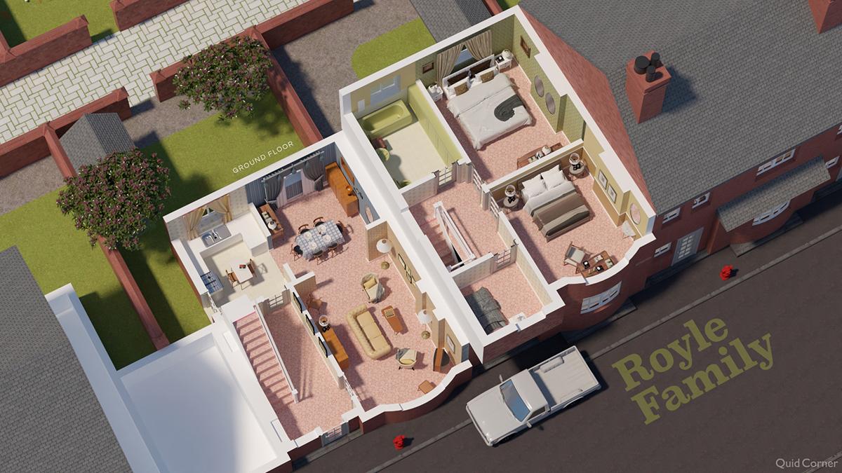 Royle Family TV show house floor plan