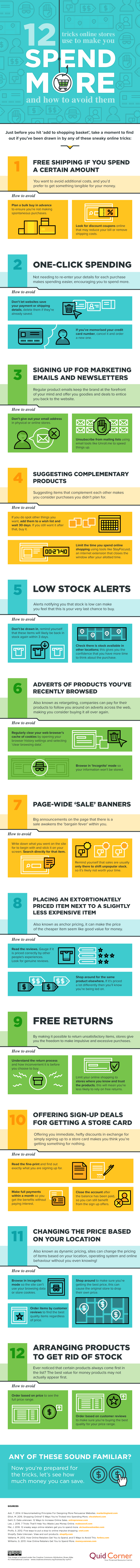 Tricks Online Stores Use to Make You Spend More and How to Avoid Them infographic