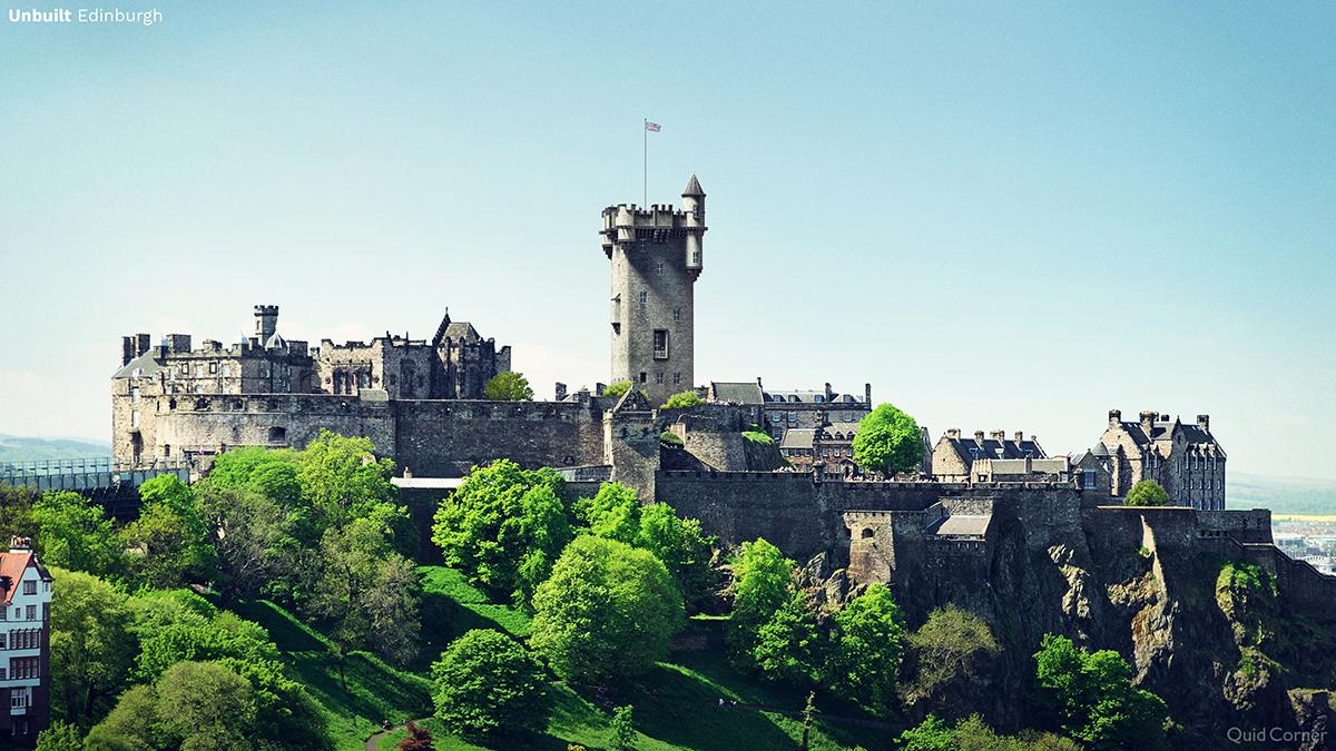 a skyline of Edinburgh unbuilt structures