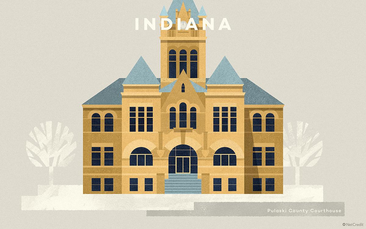 Indiana Pulaski County Courthouse