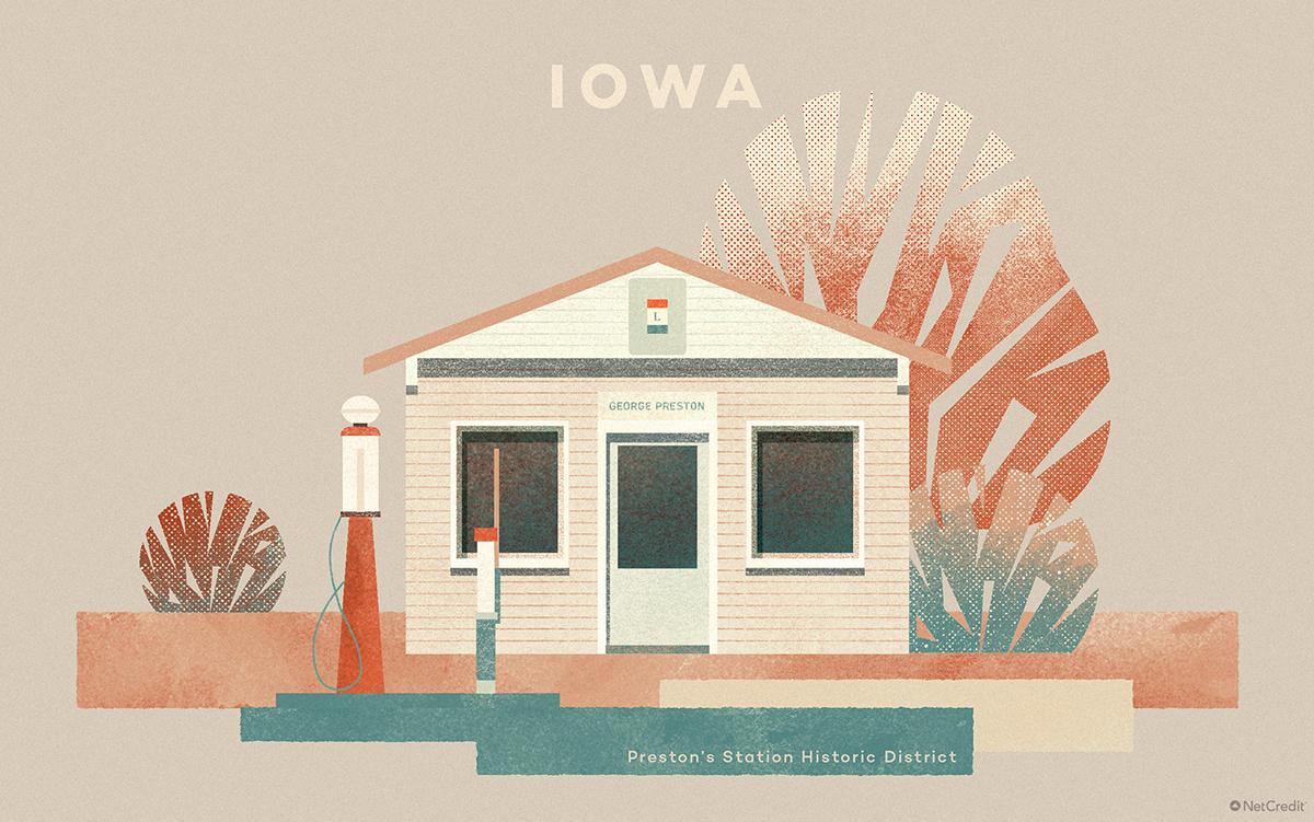 Iowa Preston's Station Historic District