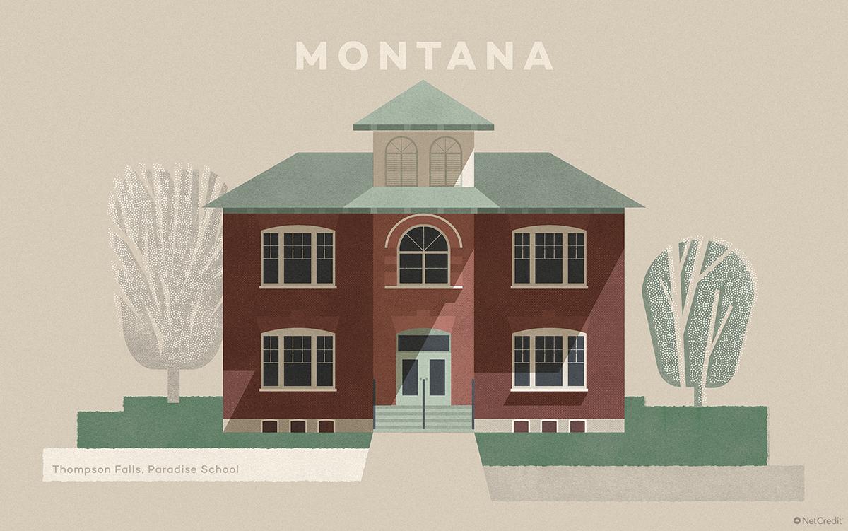 Montana Thompson Falls, Paradise School