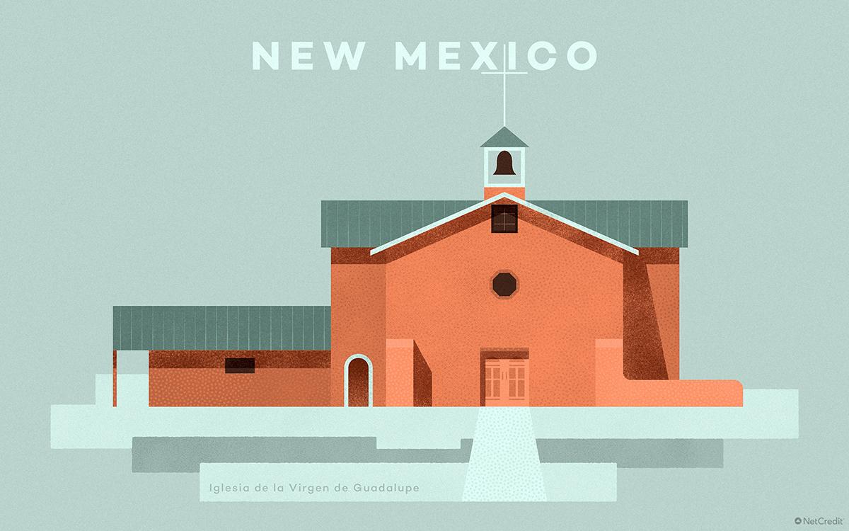 New Mexico Iglesia de la Virgen de Guadalupe