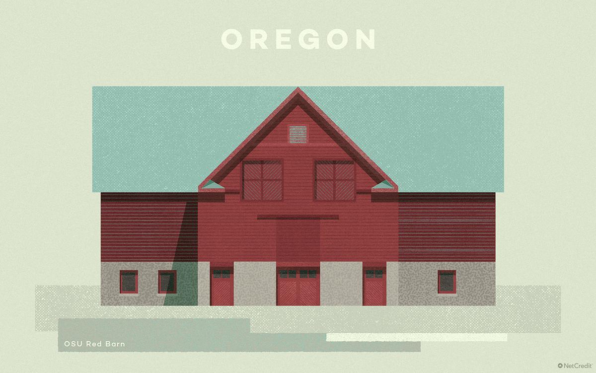 Oregon OSU Red Barn